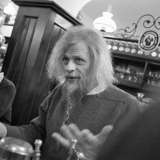 Special Guest Jacob Holdt hielt beim Festival 2012 einen legendären, mehrstündigen Vortrag. (Foto: Robert Pupeter)